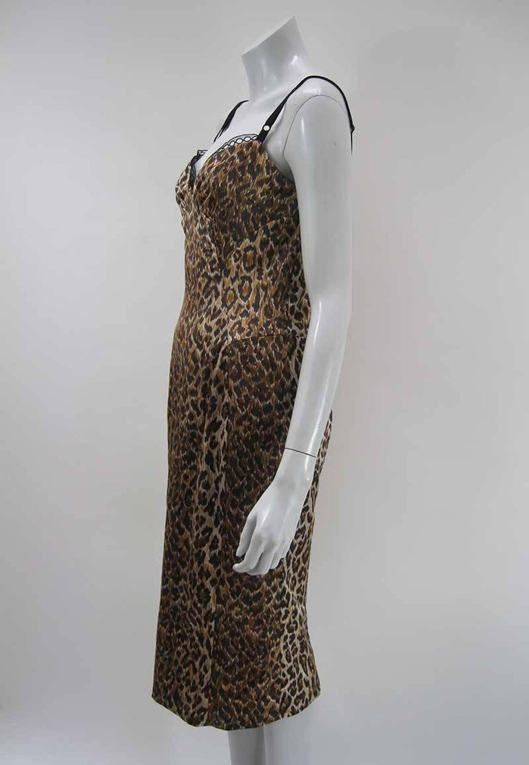 Dolce & Gabbana Satin Leopard Print Dress 2