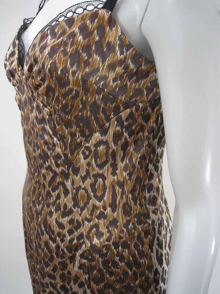 Dolce & Gabbana Satin Leopard Print Dress 4