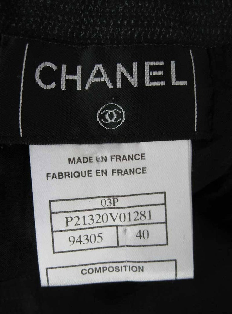 Chanel Textured Calf Skin Wrap Waist Skirt 3