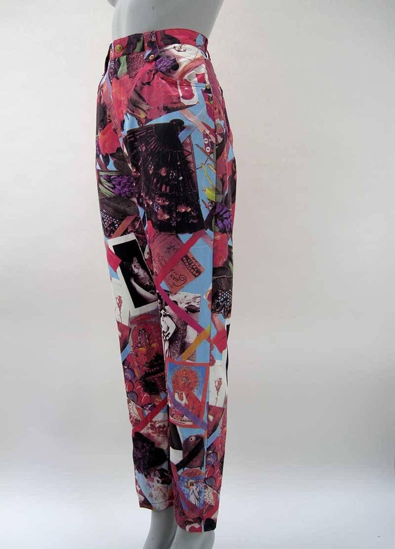 Christian Lacroix Bazar Photo Print Novelty Pants 4