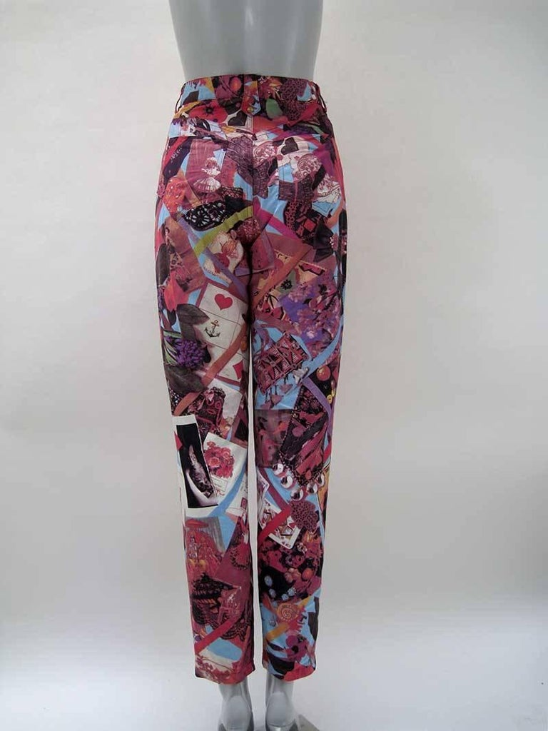 Christian Lacroix Bazar Photo Print Novelty Pants 8