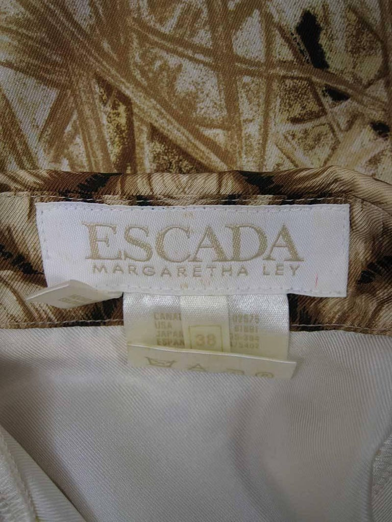 Escada Silk Tiger Face Scarf Print Blouse 7