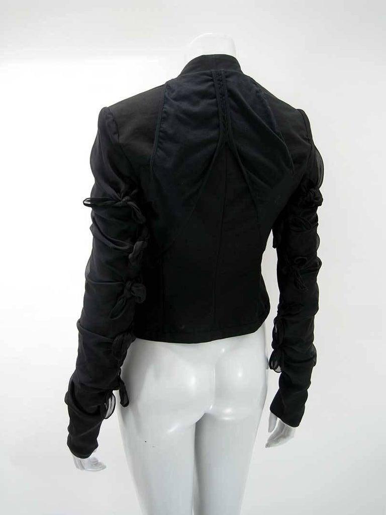 Women's Rick Owens Multi Tie Cropped Avant Garde Structured Jacket For Sale