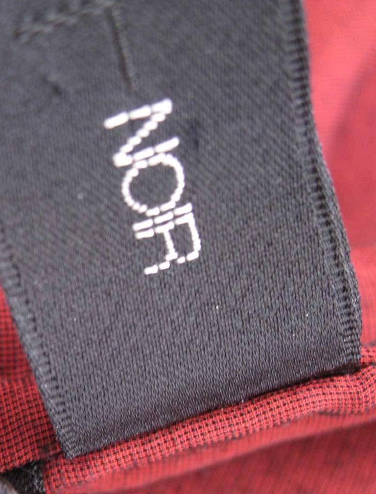 Yohji Yamamoto Noir Black & Red Crushed Velour Blazer  For Sale 3