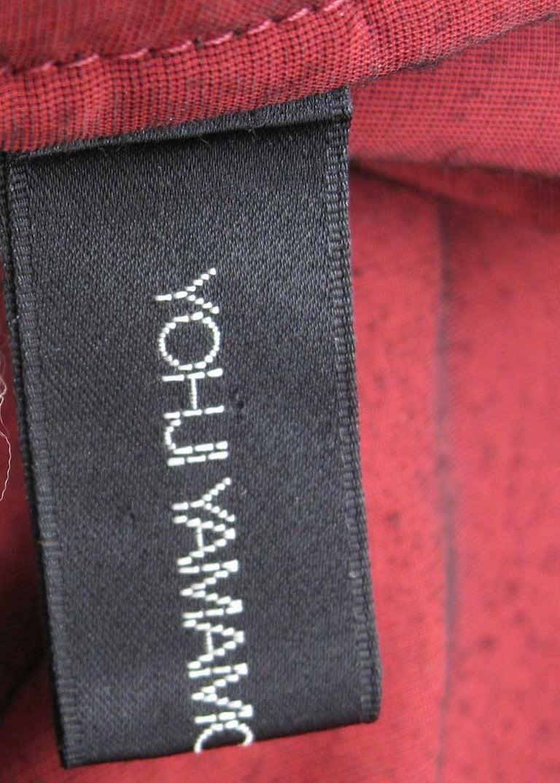 Yohji Yamamoto Noir Black & Red Crushed Velour Blazer  8