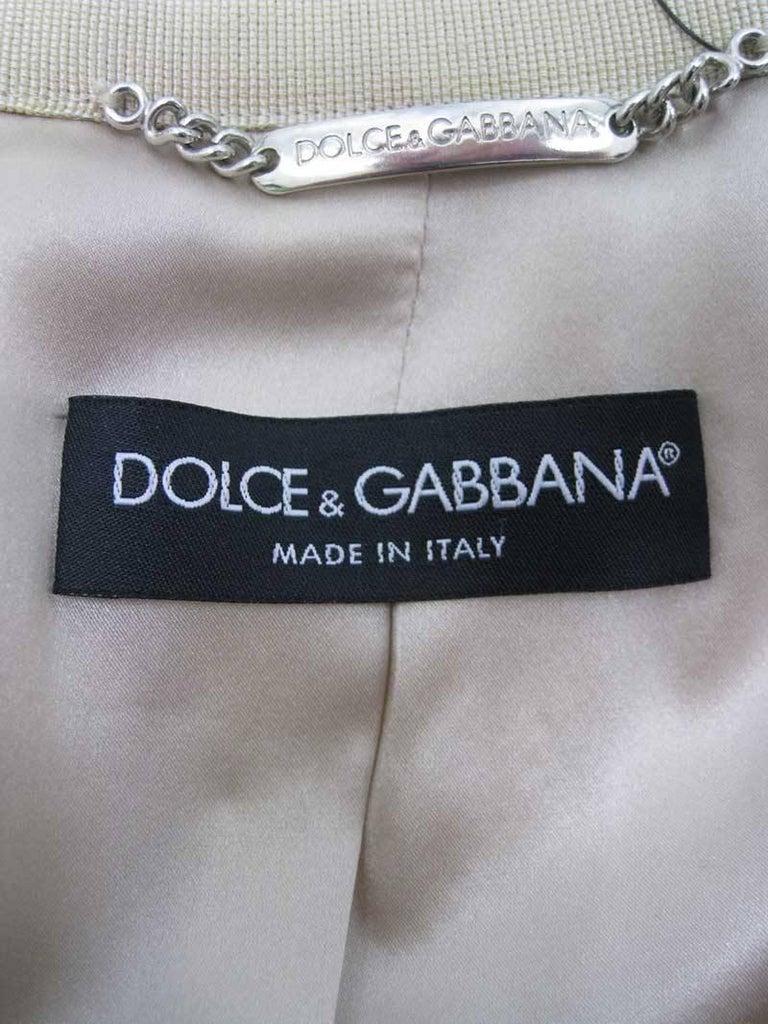 Dolce & Gabbana Gold Brocade Embellished Jacket 9