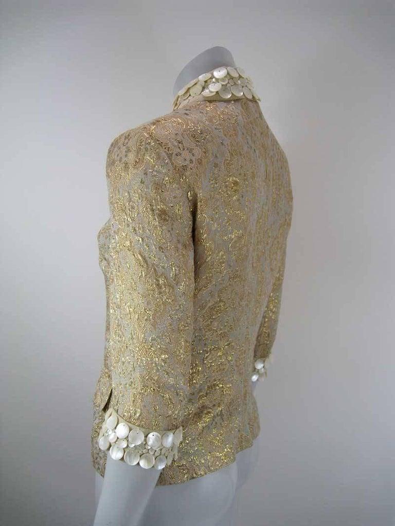 Dolce & Gabbana Gold Brocade Embellished Jacket 6