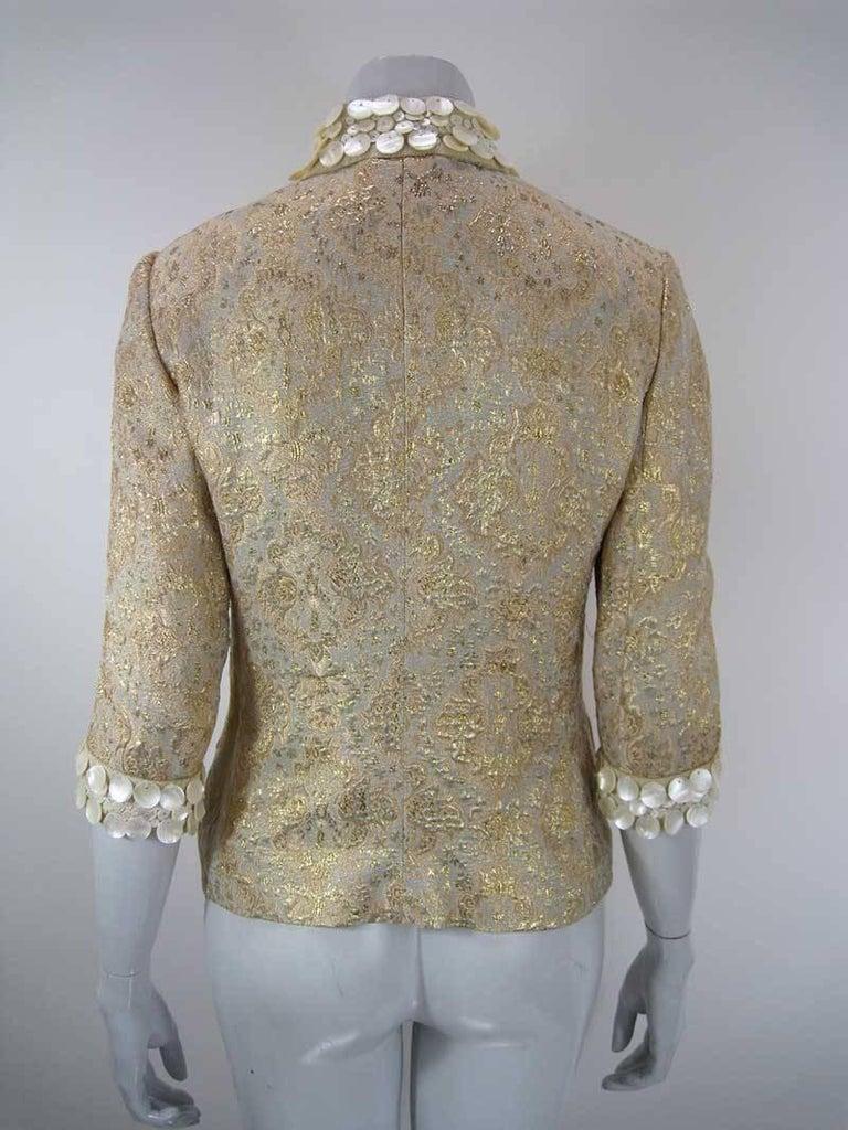 Dolce & Gabbana Gold Brocade Embellished Jacket 7
