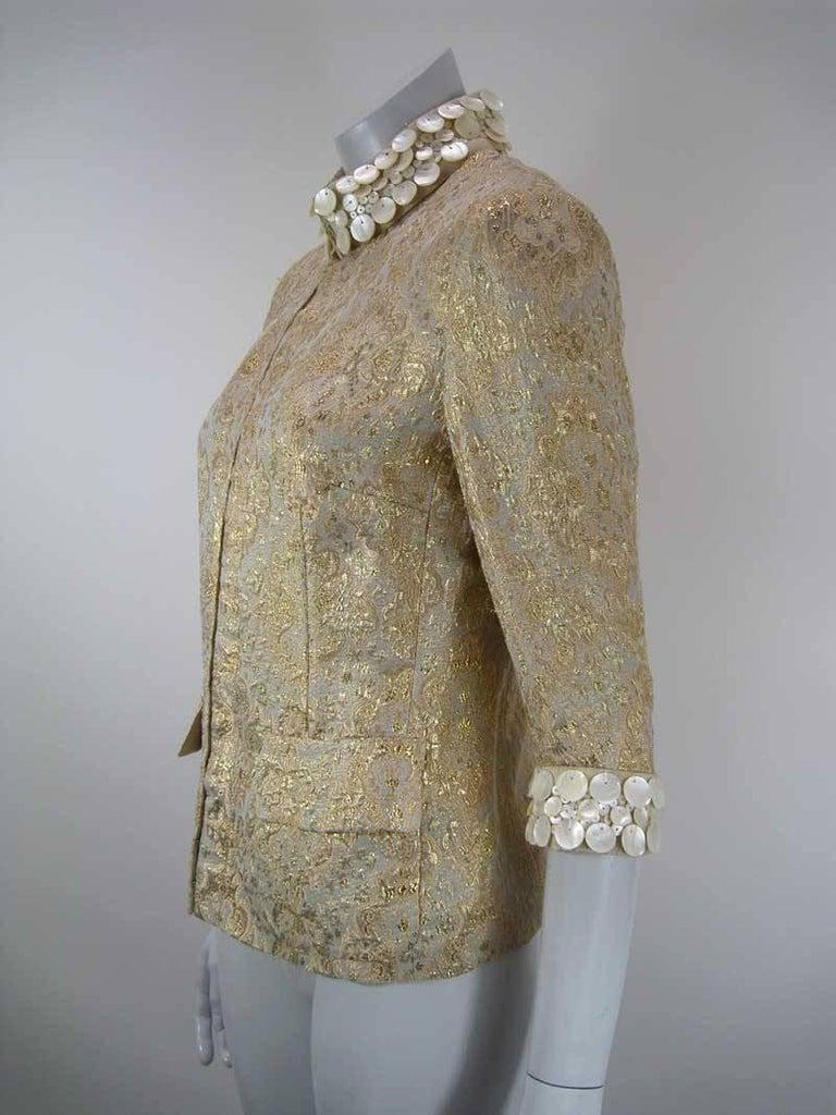 Dolce & Gabbana Gold Brocade Embellished Jacket 5