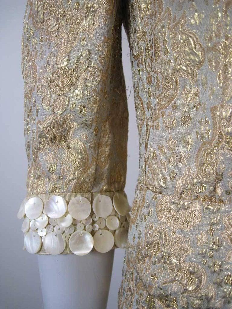 Dolce & Gabbana Gold Brocade Embellished Jacket 8