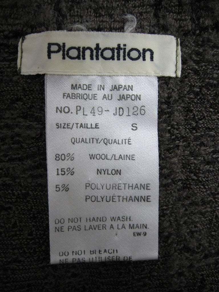 Plantation by Issey Miyake Textured Woven Jacket and Skirt For Sale 2