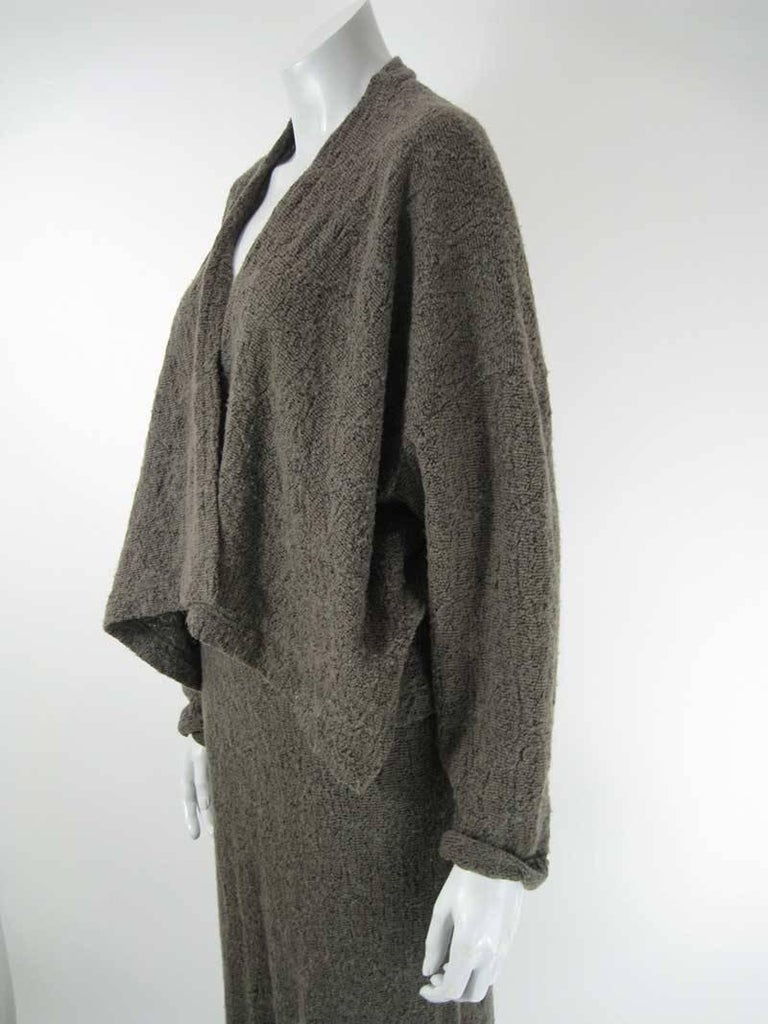 Plantation by Issey Miyake Textured Woven Jacket and Skirt In Good Condition For Sale In San Francisco, CA