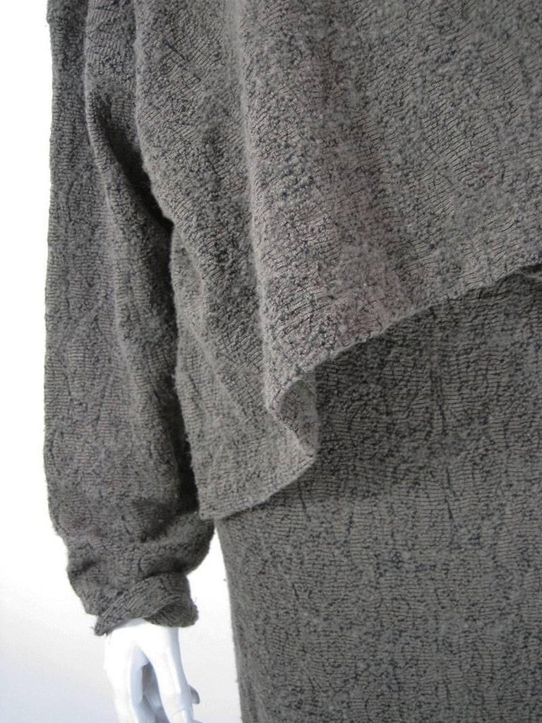 Women's Plantation by Issey Miyake Textured Woven Jacket and Skirt For Sale