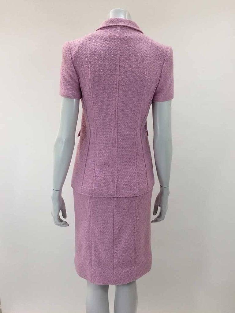 Chanel Boutique Lavender Wool Boucle Suit 5