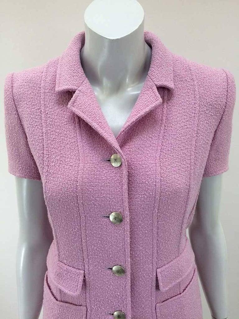 Chanel Boutique Lavender Wool Boucle Suit 2