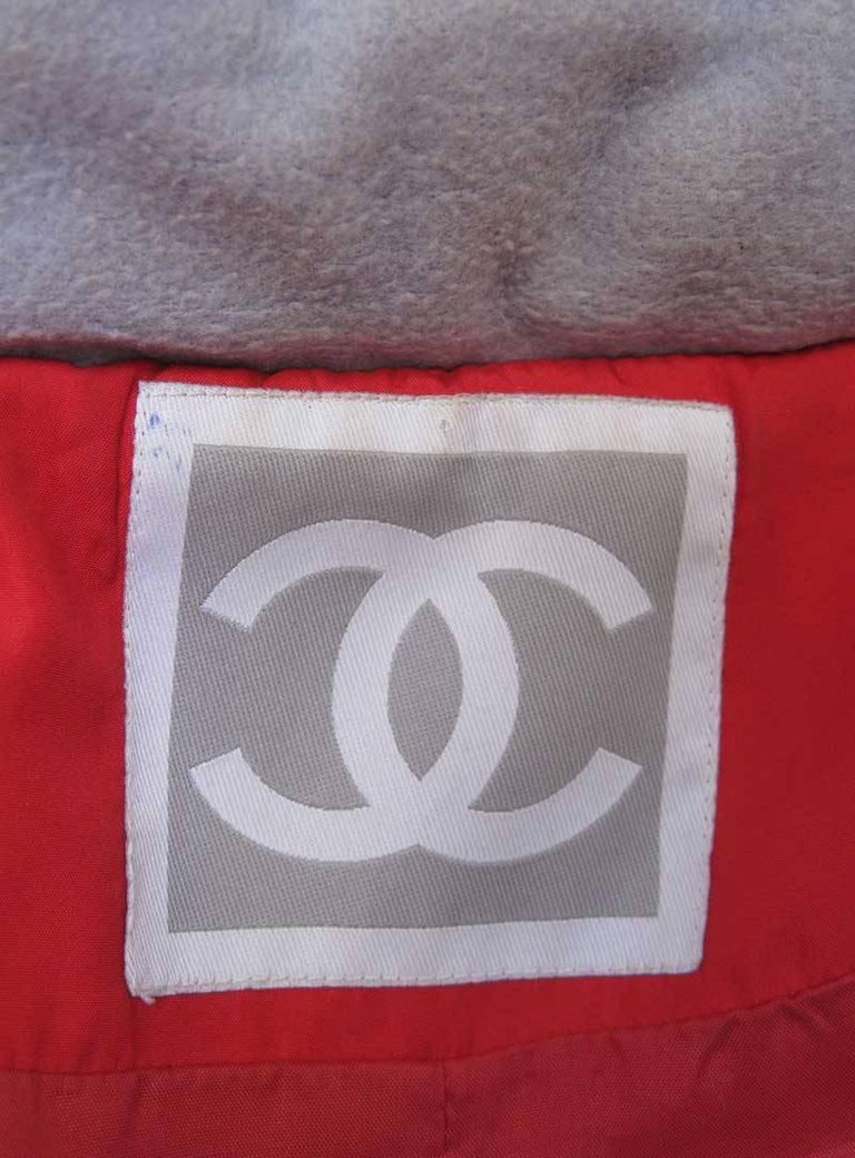 Chanel Red Puffer Ski Jacket Parka For Sale 1