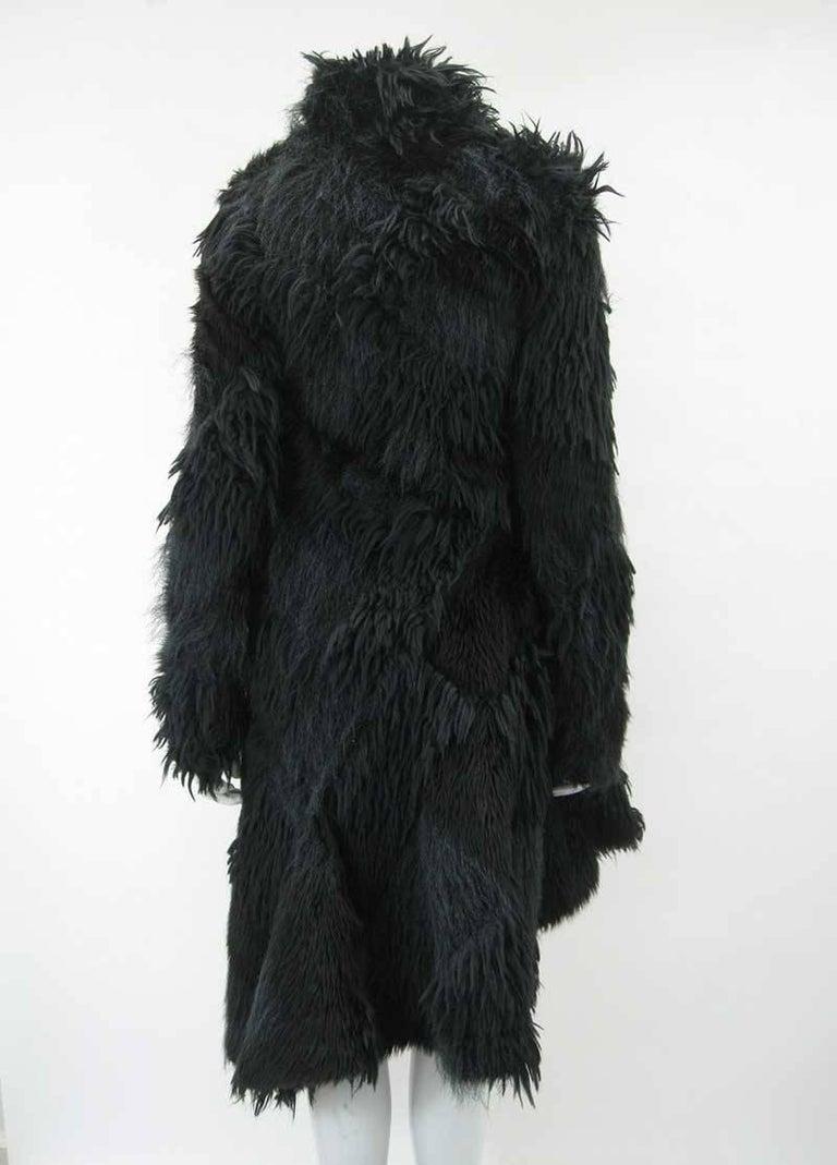 Comme des Garcons Faux Fur Asymmetrical Coat 2002  For Sale 1