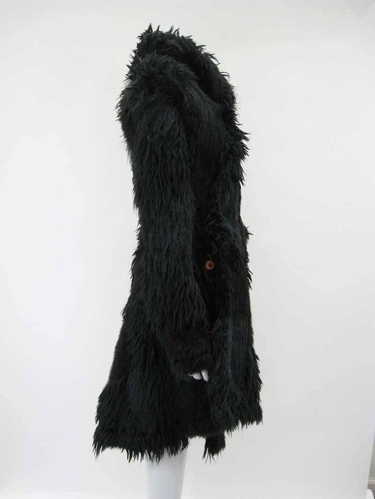 Comme des Garcons Faux Fur Asymmetrical Coat 2002  In Excellent Condition For Sale In San Francisco, CA