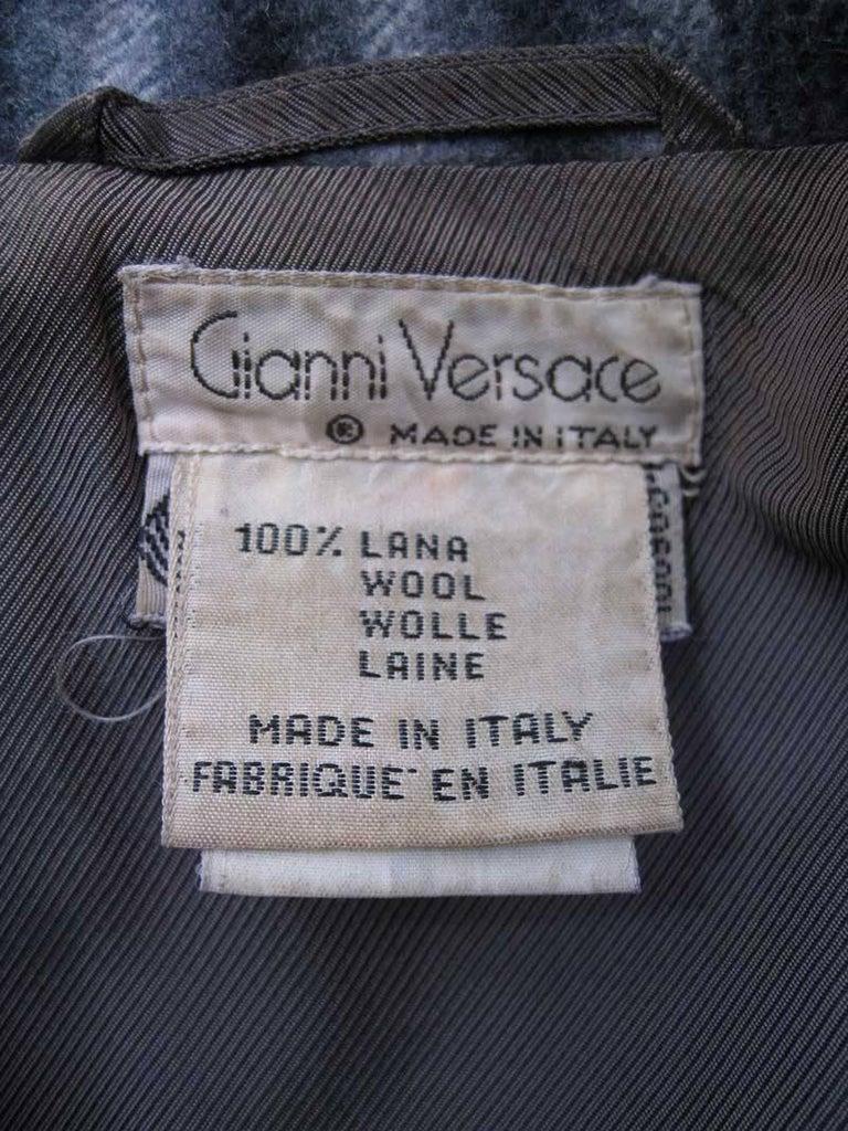 Women's Gianni Versace Menswear Inspired Striped Wool Coat For Sale