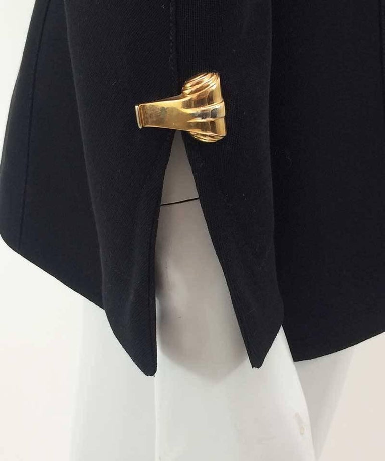 Women's Thierry Mugler Black Asymmetrical Folded Collar Jacket For Sale