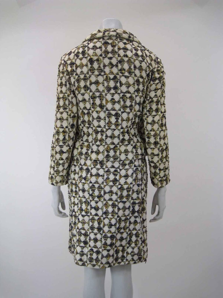 Christian Dior 1960's Marc Bohan Numbered Houndstooth Suit For Sale 3