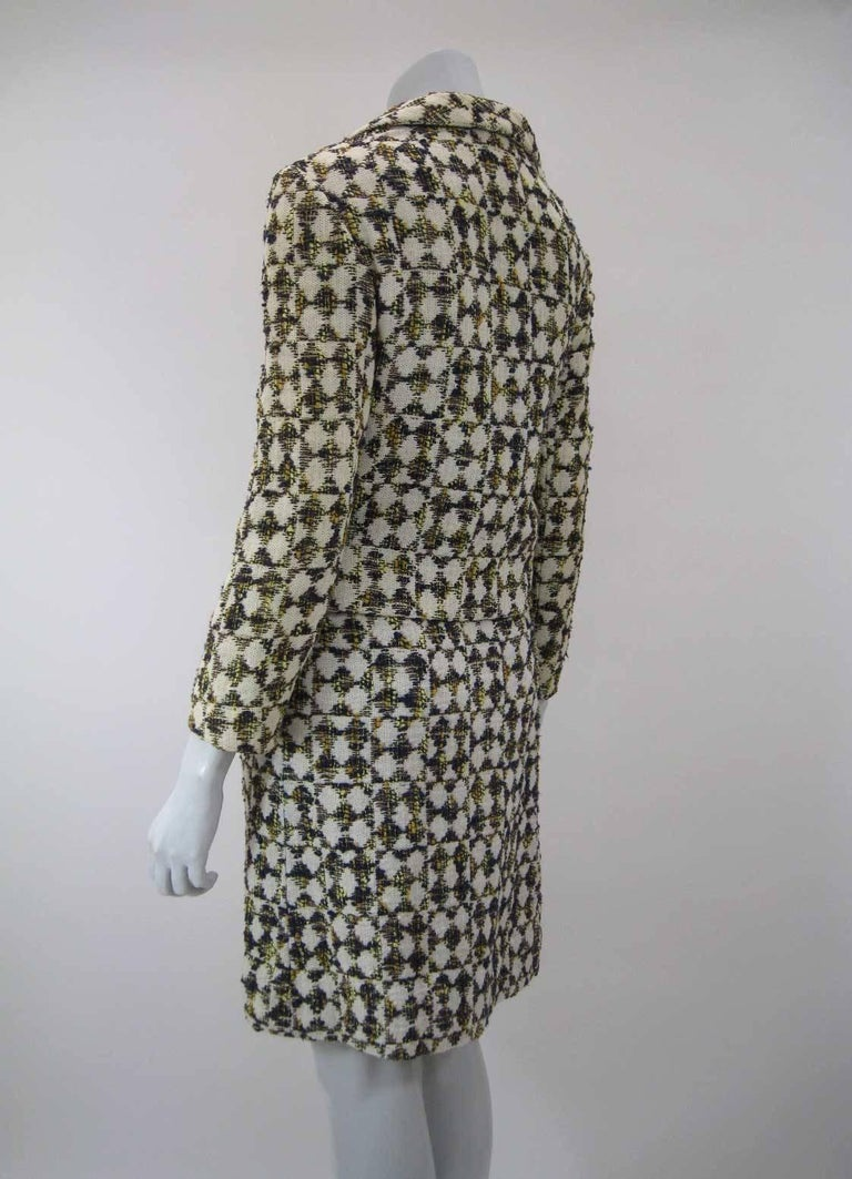 Christian Dior 1960's Marc Bohan Numbered Houndstooth Suit For Sale 2