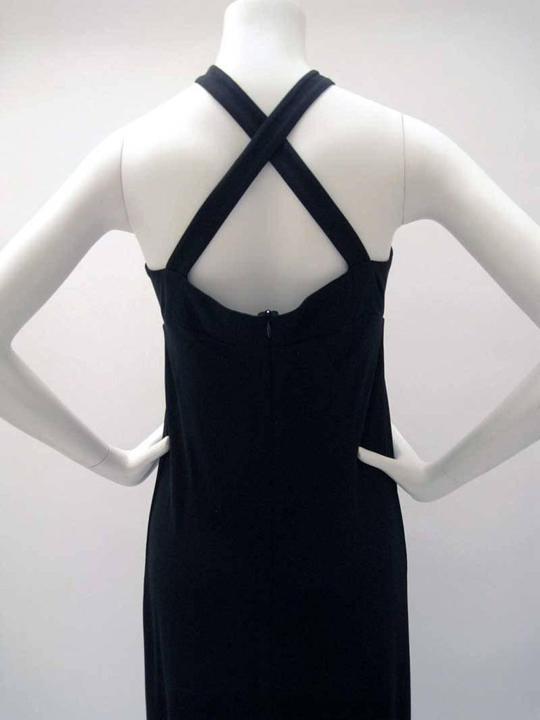 Women's Gianfranco Ferre Black Jersey Cocktail Dress For Sale