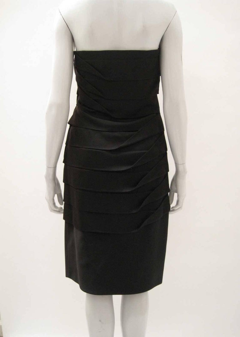 Gianni Versace Strapless Bodycon Cocktail Dress In Excellent Condition For Sale In San Francisco, CA