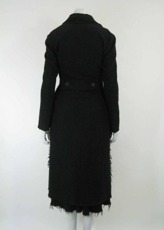 Junya Watanabe for Comme des Garcons 2003 Frayed Hem Coat & Dress 9