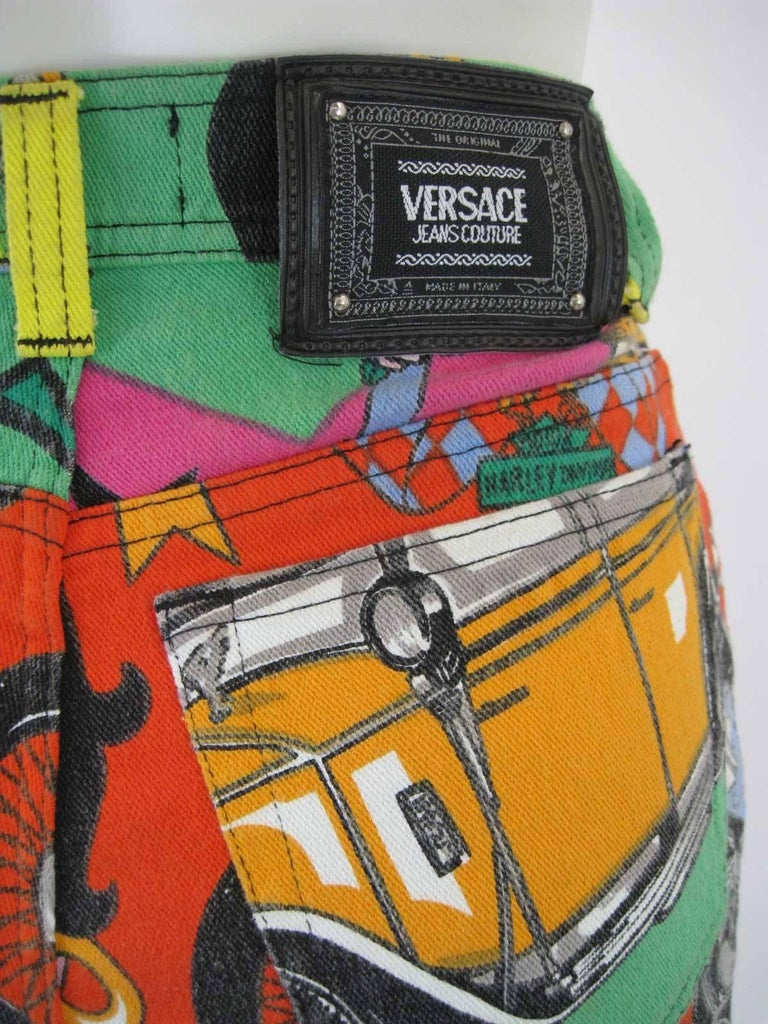 Versace Jeans Couture Cartoon Betty Boop Harley Novelty Logo Skinny Jeans 8