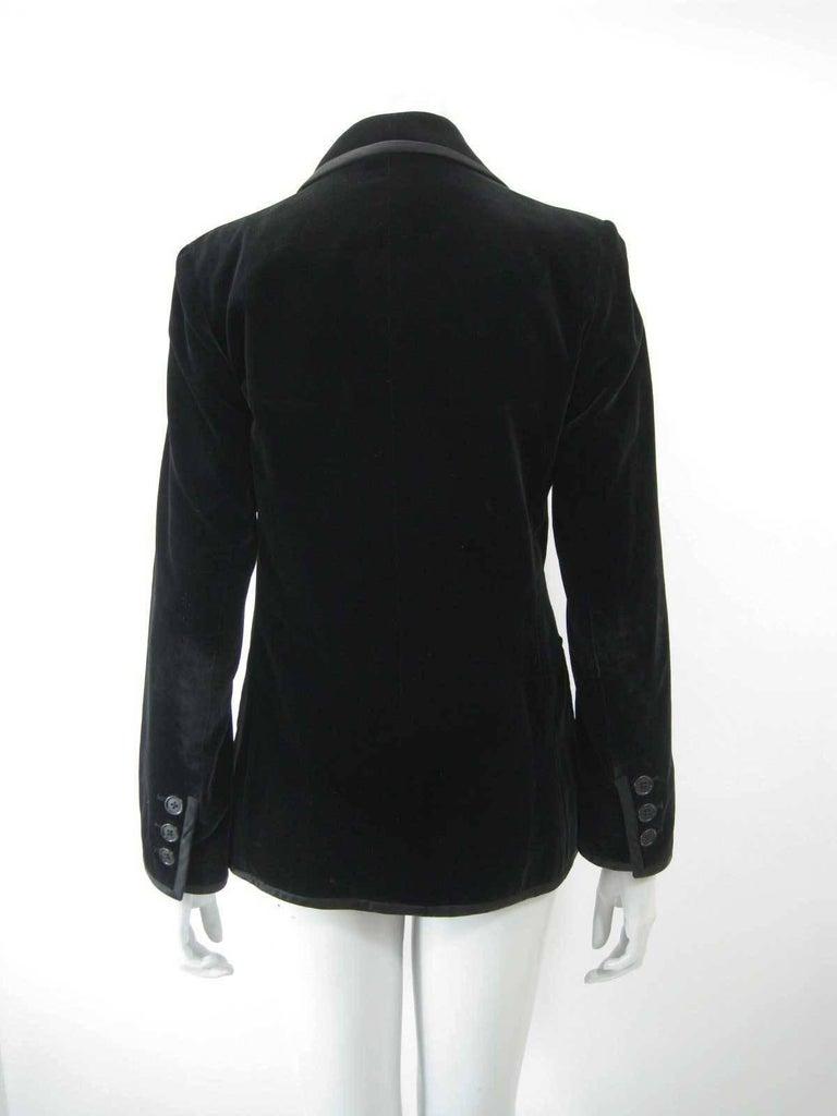 Women's Yves Saint Laurent Rive Gauche Black Velvet Blazer  For Sale