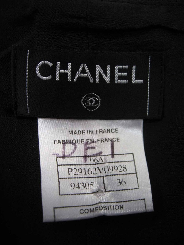 Chanel Black Silk Statin Palazzo Evening Pants For Sale 2