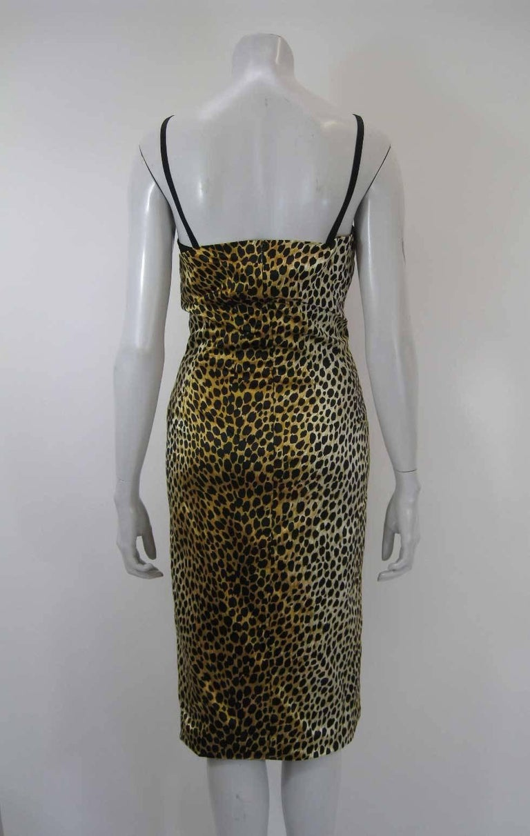 Dolce & Gabbana Leopard Print BodyCon Cocktail Dress with Bra Top In Excellent Condition For Sale In San Francisco, CA