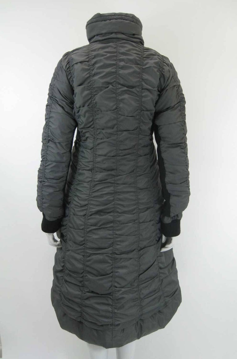 Women's Issey Miyake Ruched Down Long Puffer Jacket  For Sale