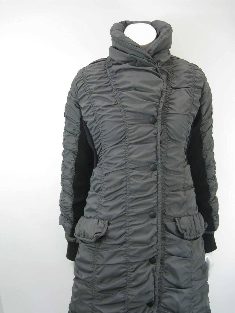 Issey Miyake Ruched Down Long Puffer Jacket  2