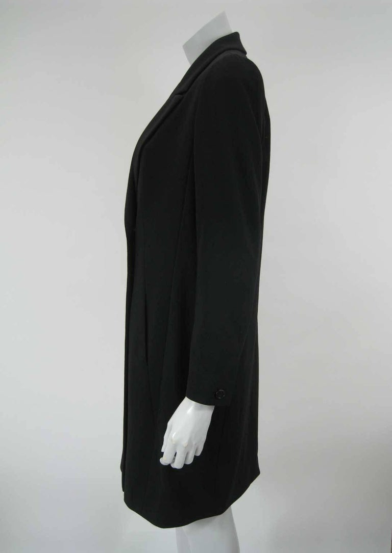 Chanel Boutique Black Long Double Breasted Evening Jacket. For Sale 1