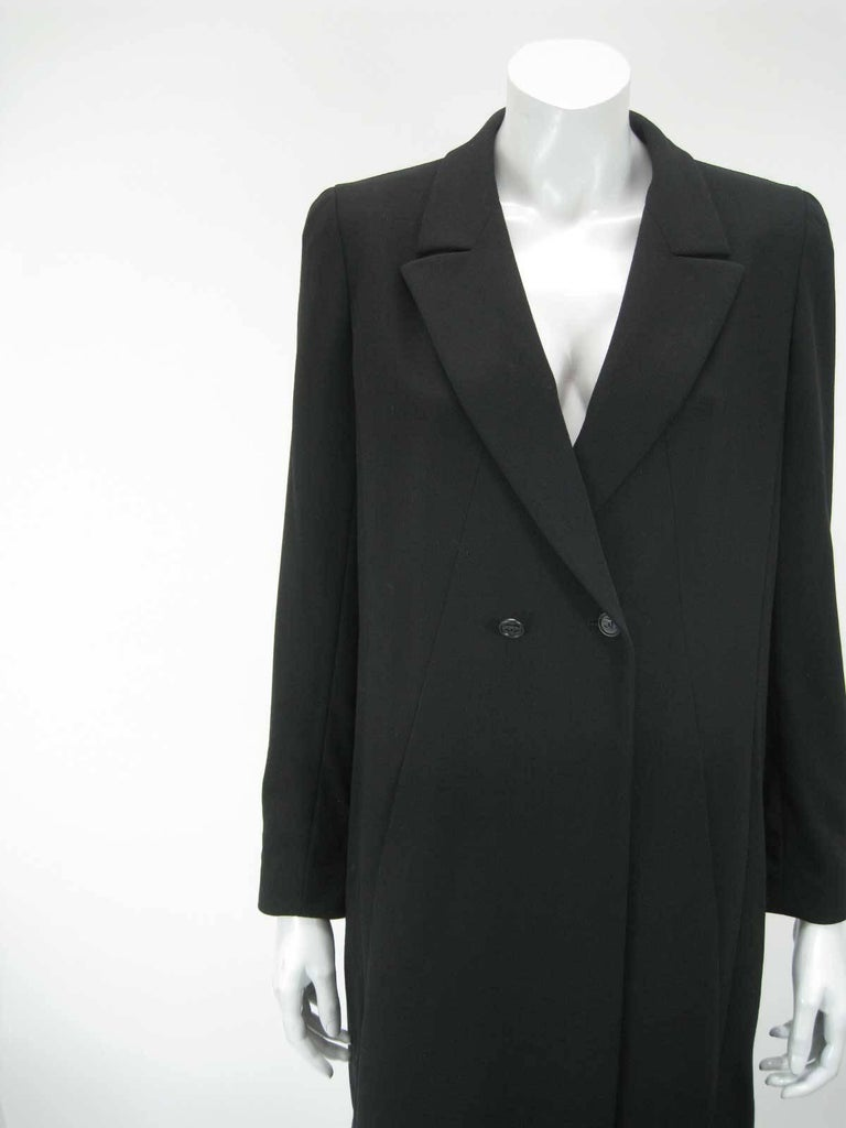 Women's Chanel Boutique Black Long Double Breasted Evening Jacket. For Sale