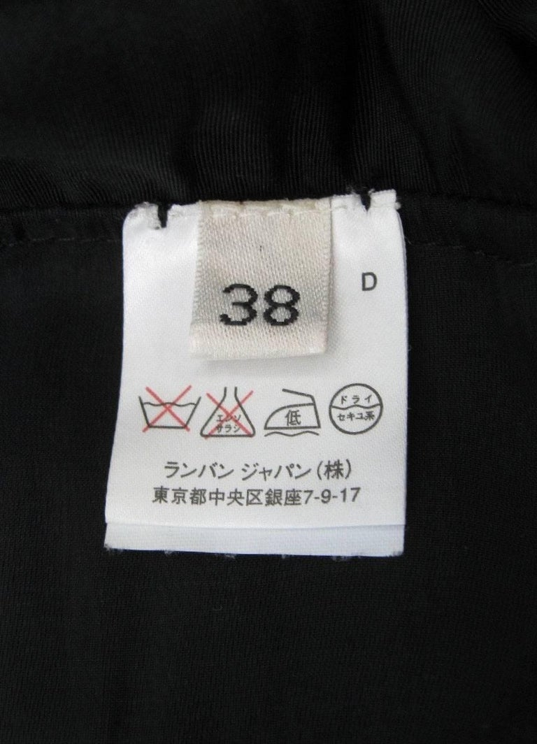 Women's Lanvin 2005 Textured Taffeta Frayed Silk Wrap Jacket For Sale