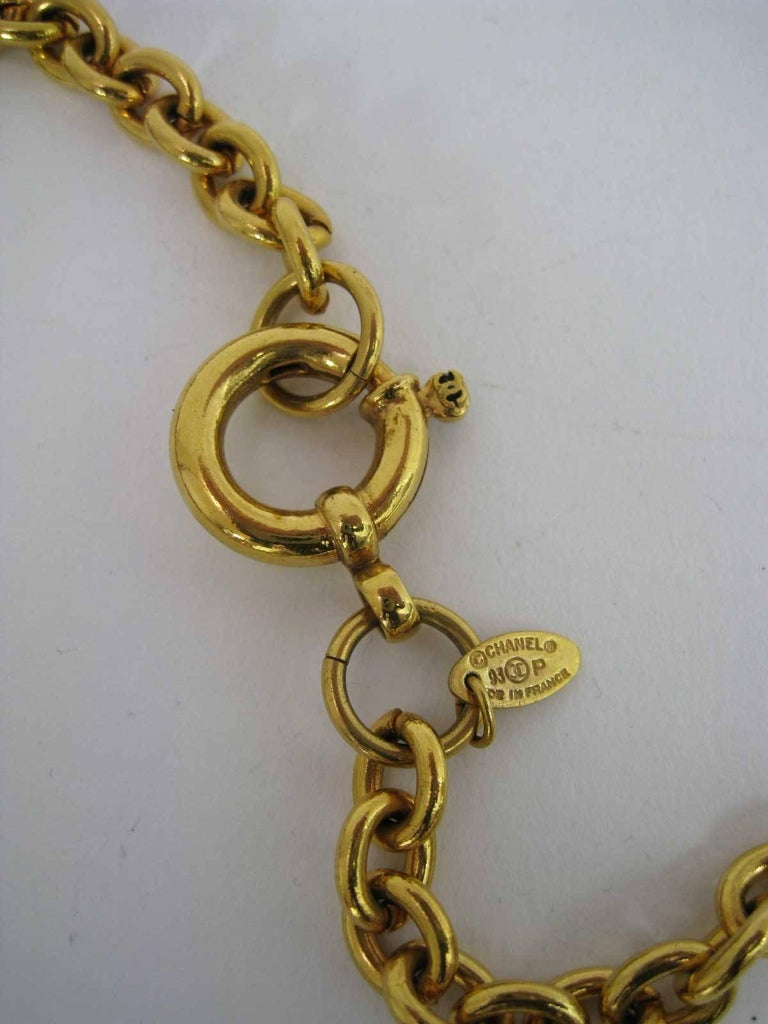 1993 Chanel Long Chain Necklace Magnifying Glass  For Sale 2