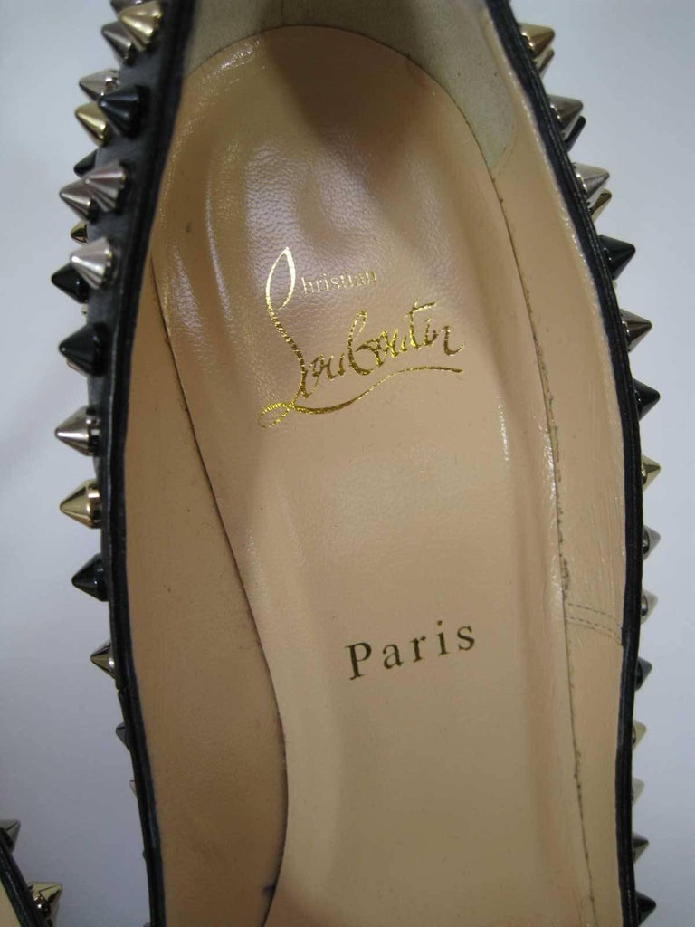 Christian Louboutin Pigalle Spikes Studded High Heels  For Sale 1