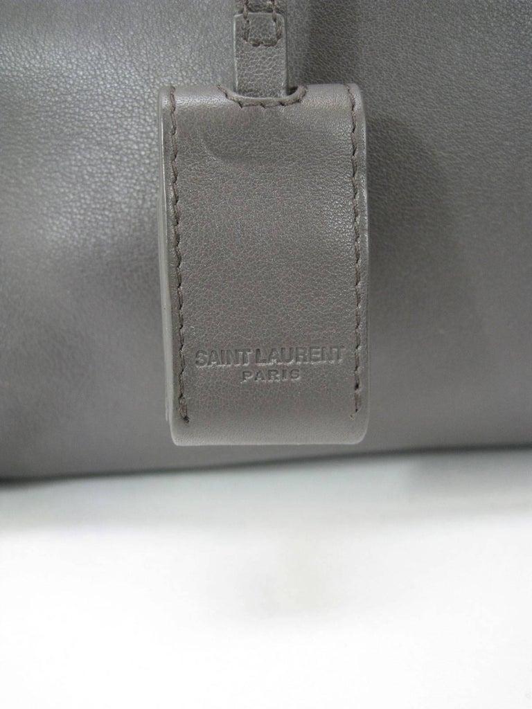 Saint Laurent Baby Sac De Jour Gray Leather Handbag Purse  For Sale 3