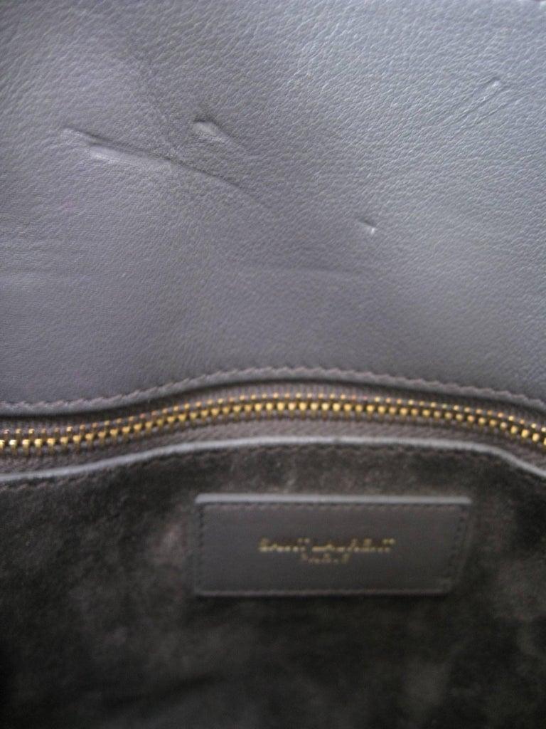 Saint Laurent Baby Sac De Jour Gray Leather Handbag Purse  For Sale 2