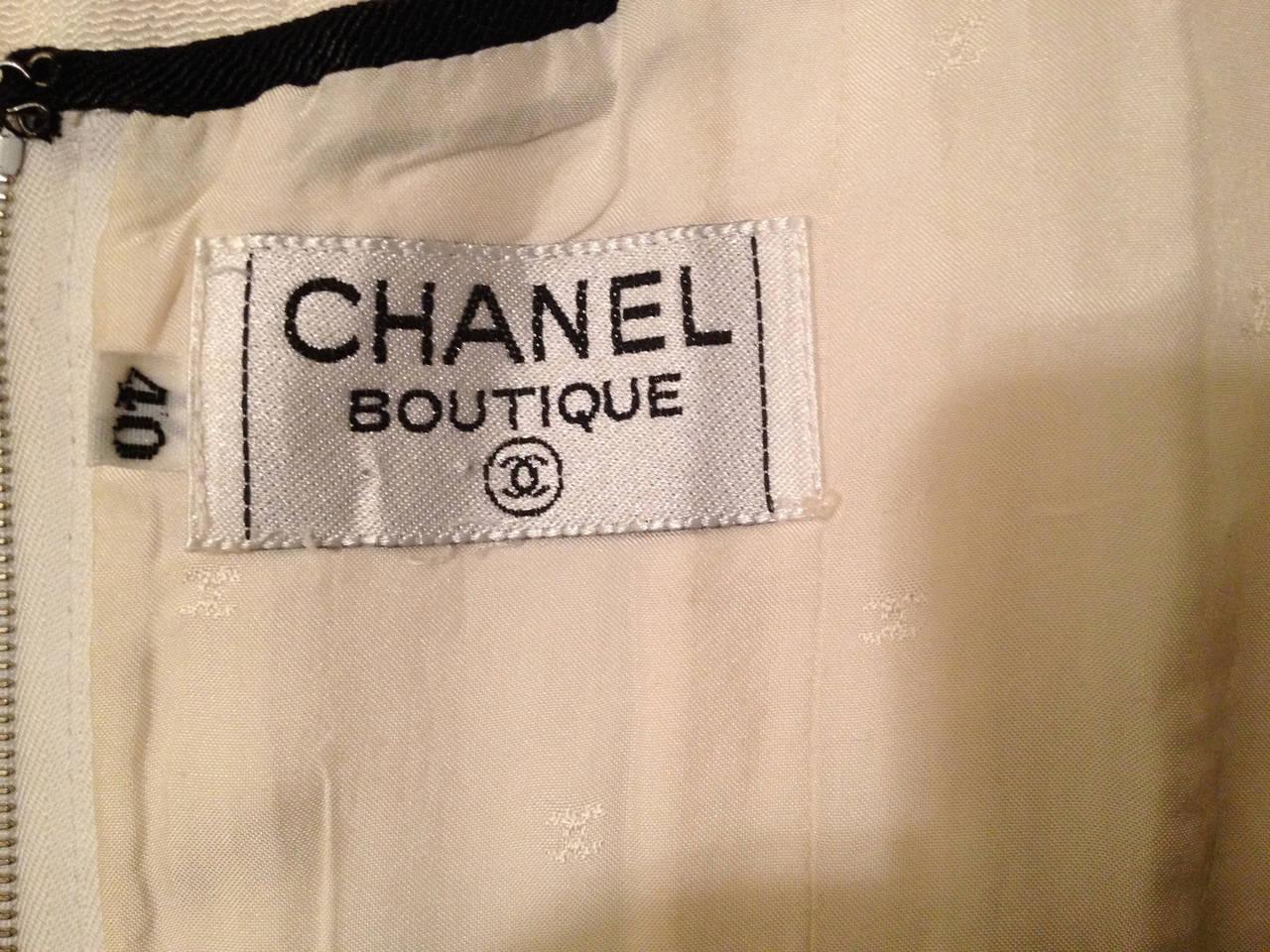 Chanel Corset Top in Cream Crepe 5
