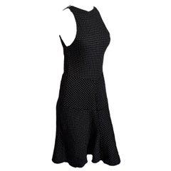 Alaia Polka Dot Body-Con Dress in Black
