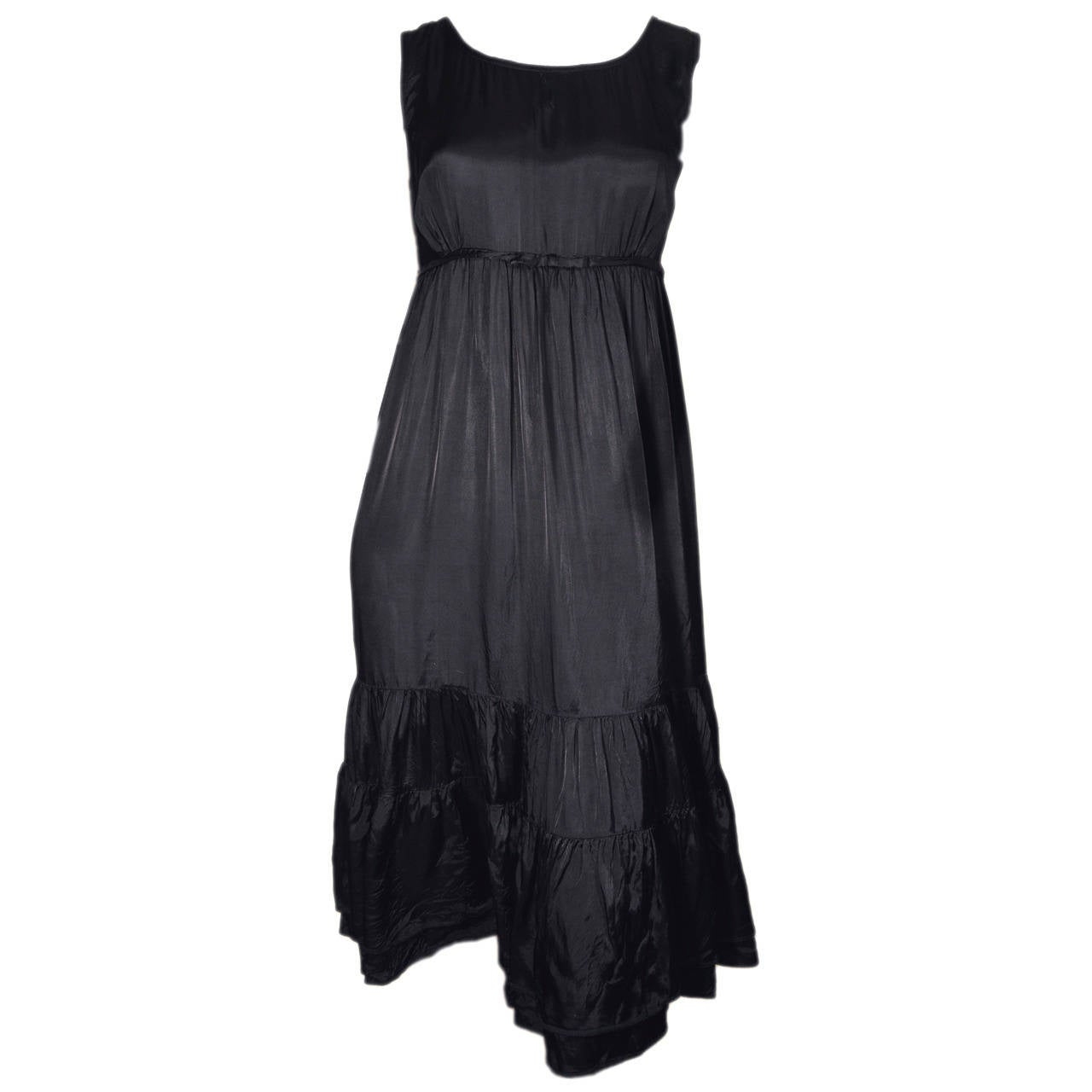 Comme des Garcons Black Rayon Tiered Dress