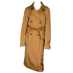 "Yves Saint Laurent ""Rive Gauche"" Iridescent Belted Trench Coat"