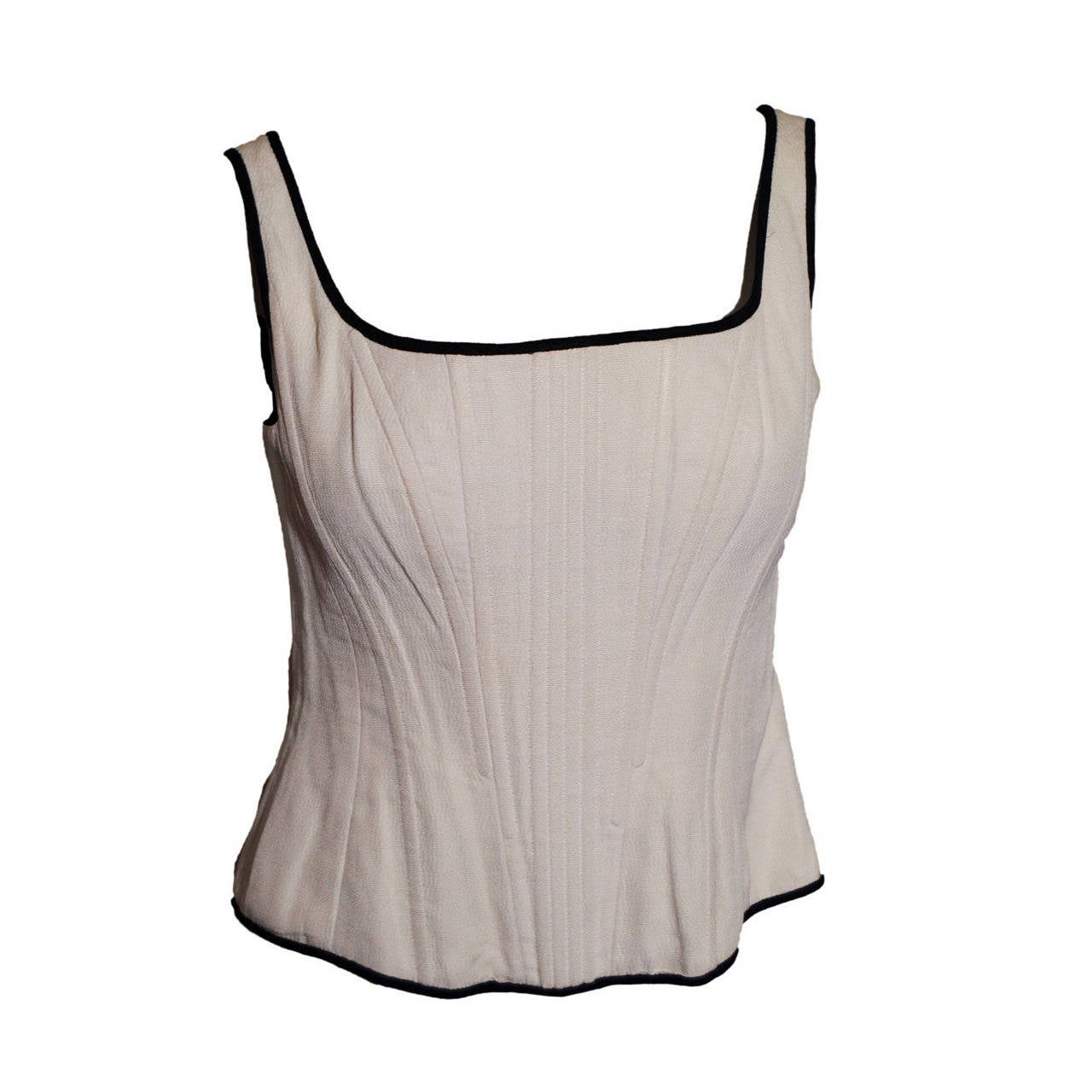 Chanel Corset Top in Cream Crepe