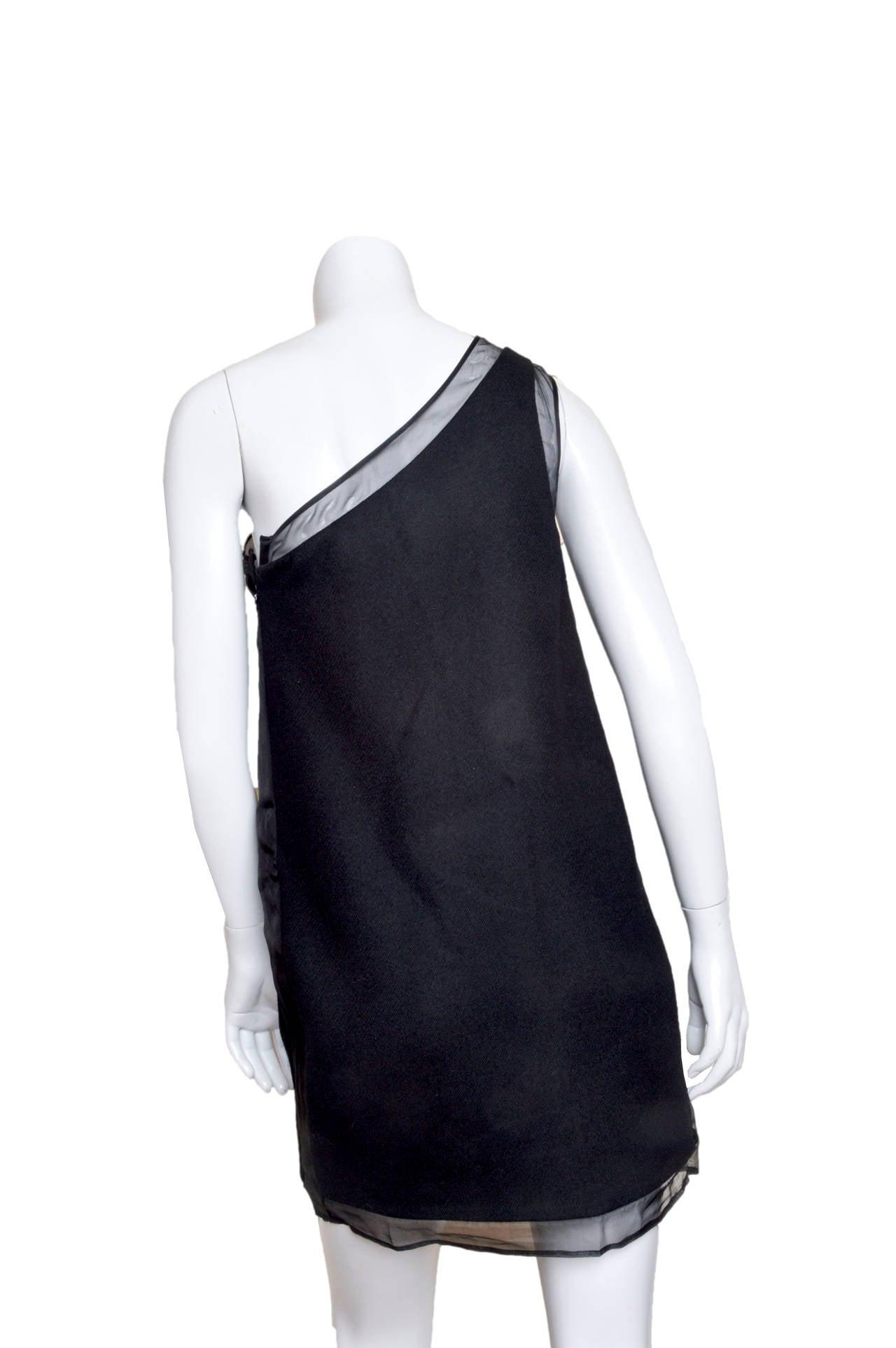 Stella McCartney Black One Shoulder Dress For Sale 1
