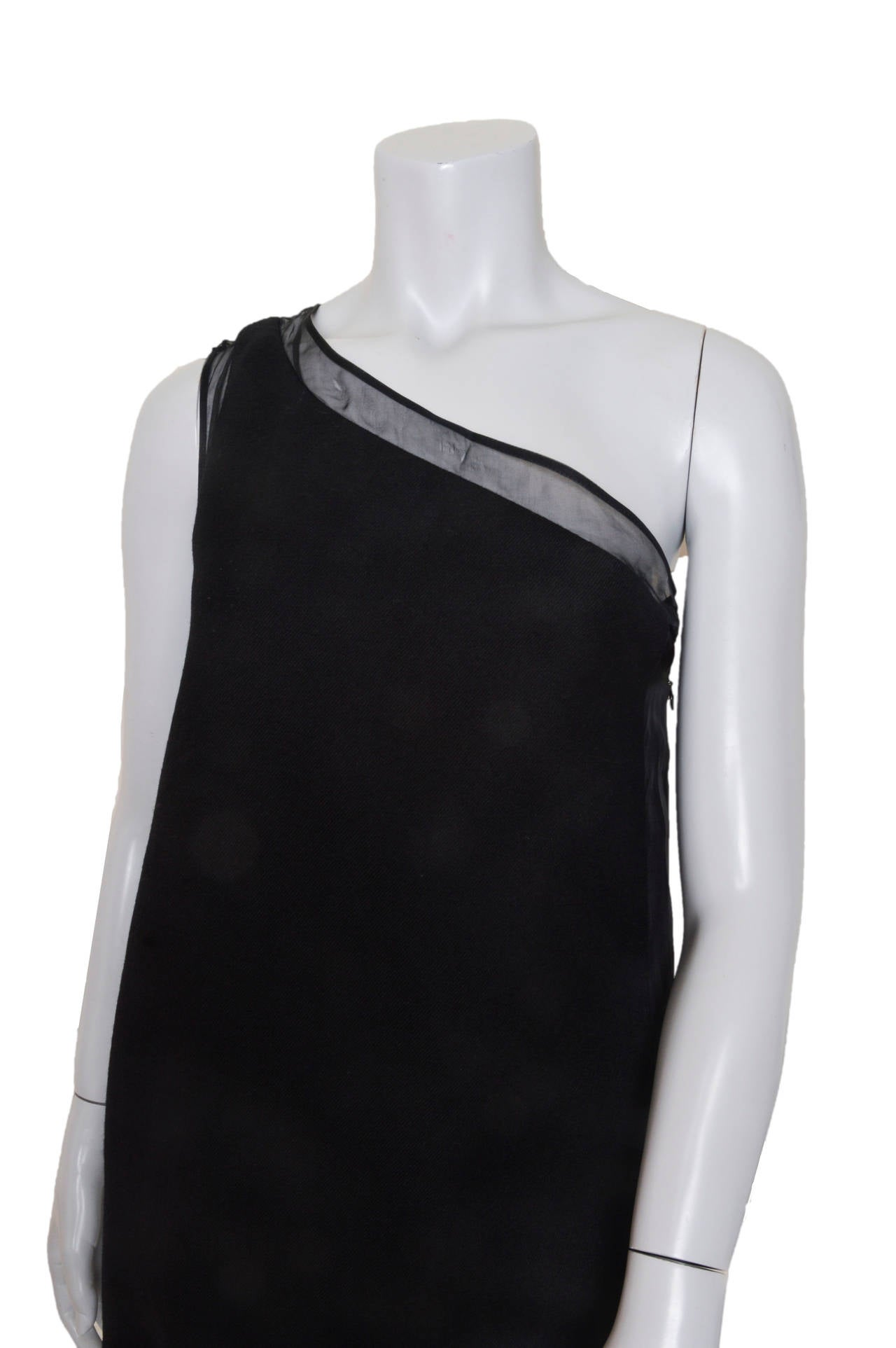Stella McCartney Black One Shoulder Dress In New Condition For Sale In San Francisco, CA