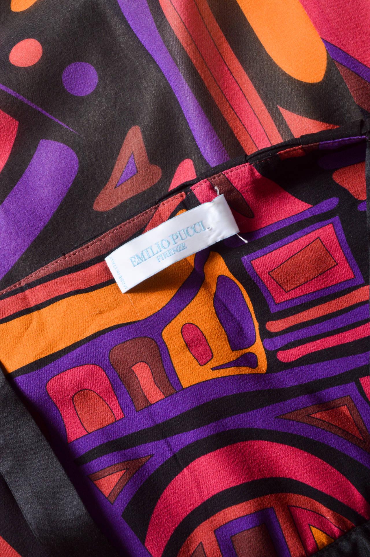 Emilio Pucci Silk Crepe Gown For Sale 1
